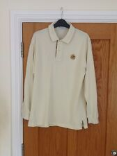 Mens Burberry Beige Long Sleeve Polo Shirt Size Small