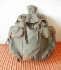 BIG Swiss Army Military Backpack 1949 CH Canvas Salt & Pepper for Schmit Rubin