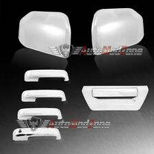 15-17 Ford F-150 Chrome 4 Door Handle + Tailgate + Upper Half Mirror Covers