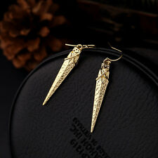 Fashion 2016 18K Gold Plated Curved Arrow Dangle Earrings Women's Jewelry Gift
