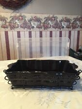 Temp-tations 2.5 Quart  Oven-to-Table Baker - Black Country Lace