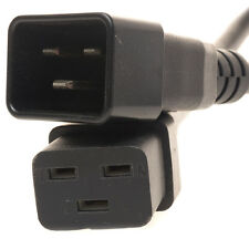 Mains Power C19 to C20 Extension Cable 3m 3 metres