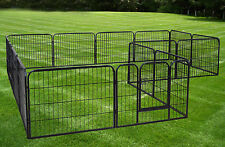 Dog Kennels And Runs Outdoor Fencing Boundary Outdoor Gates 16 Panels Exercise