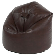 XL Filled Faux Leather Beanbags Adult Bean bag Beanbag chair Brown
