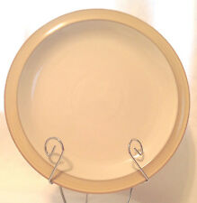 "DENBY LANGLEY CARAMEL RIM CREAM CENTER SALAD / DESSERT PLATE 8-7/8"" DIA NWT"