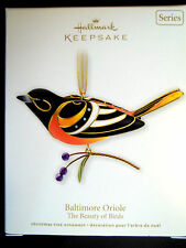 Yr 2011 Hallmark,BALTIMORE ORIOLE,THE BEAUTY OF BIRDS,#7 in Series