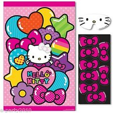 HELLO KITTY Rainbow PARTY GAME POSTER ~ Birthday Supplies Decorations Plastic
