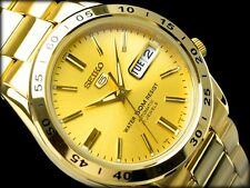 NEW MEN'S SEIKO 5 AUTOMATIC ALL GOLD 21 JEWEL ANALOG WATCH SNKE06K1