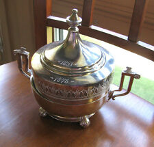 Antique Reed & Barton Silverplated Covered butter dish Dtd 1851 - 1876 Aesthetic