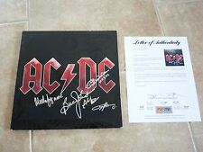 AC/DC x4 Black Ice Signed Autographed LP Album Record PSA Certified