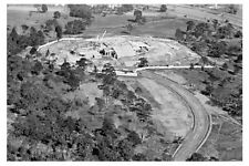 Melb Shrine of Remembrance construct 2nd aerial c1927 'zoomed' modern Postcard