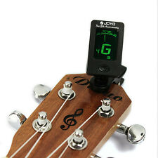 Chic Clip-on LCD Digital Chromatic Electronic Guitar Tuner Bass Violin Ukulele