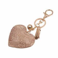 Hot Sale Love Rhinestone Tassel Keychain Bag Handbag Key Ring Car Key Pendant