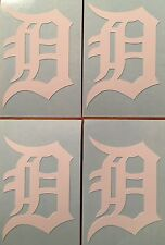 "Detroit Tigers Old English D 4 Pack White Decals 1.38""x 2""""**FREE SHIPPING**"