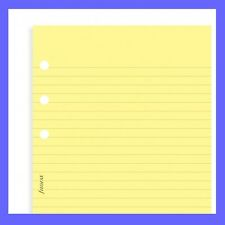 Filofax A5 Yellow Ruled Insert Refill Notepaper 343010