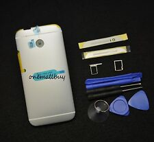 Batery Cover Housing Case+Top&Buttom Cover+Tray  For HTC ONE M8-Siver