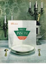 PUBLICITE ADVERTISING 035  1962  PANZANI  pates