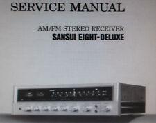 Sansui 8 deluxe am fm récepteur stéréo service manual inc Schems anglais