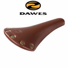 Dawes Heritage Tourer Riveted Leather Look Bicycle Saddle - Brown