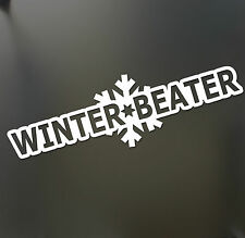 Winter Beater Sticker Funny JDM Drift Honda winterbeater snow lowered car window
