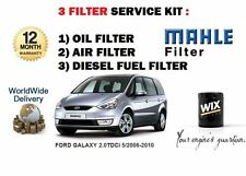 FOR FORD GALAXY 2.0 TDCi 5/2006-2010 SERVICE KIT OIL AIR DIESEL FUEL FILTER KIT