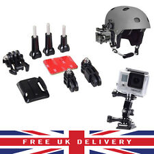 Ajuste Curvo Adhesiva Casco Montaje Lateral Kit Para GoPro HD Hero 1 2 3 3+ Pack