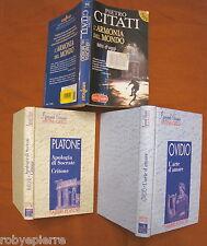 Lotto 3 libri L'armonia del mondo L'arte d'amare Apologia di Socrate Critone