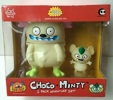 RARE David Horvath Choco & Minty #006 Vinyl Art Toy 2 Pack Glow In The Dark!