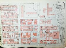 1955 MANHATTAN MURRAY HILL - NYU MEDICAL CENTER NYC G.W. BROMLEY ATLAS MAP 12X17