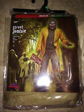 Mens Zombie Costume All Accessories Included Halloween Mask Scary Street NEW XL