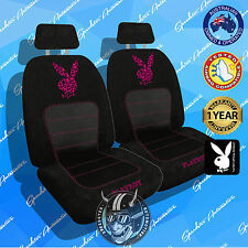 HOT PINK LEOPARD PRINT PLAYBOY CAR SEAT COVERS NEW LIMITED EDITION, AIRBAG SAFE!