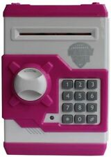 MONEY SAFE ATM Machine piggy bank for kids open with secret code electronic lock