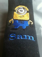PERSONALISED CAR SEAT BELT PAD/COVER Despicable Me Minion free post