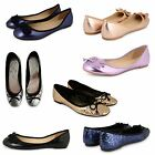 WOMENS LADIES FLAT DOLLY SHOES WORK OFFICE SCHOOL PUMPS LOAFERS BALLET BALLERINA