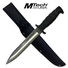 MTech Black Fixed Blade Hunting Knife Knives W/ Rubber Handle #20-69SL