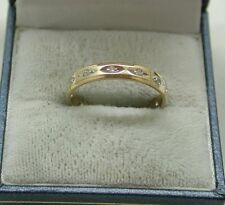 Very Nice 9ct Gold And White Spinel Full Eternity Ring