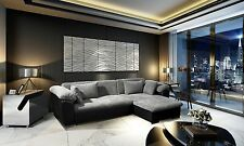 New Luxury Leather Corner Sofa Avellino Jumbo Cord Storage Sofa Bed Black Gre...