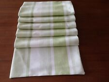 "Laura Ashley Awning stripe in Apple Table Runner 90"" Fully Lined. New!"