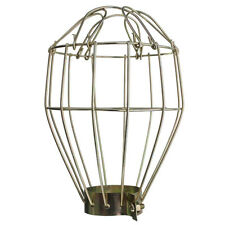 Iron Wire Bulb Cage Clamp On metal Lamp Guard Vintage Trouble Lights Lampshade