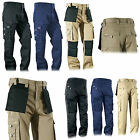 Heavy Duty Cargo Work Wear Fabric Trousers Holster Pockets Kneepad Trouser