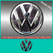 VW GTI PLAID inserti adesivi per Golf rear badge VINILE TDI R32 Mk4 Mk5 Mk6 B6