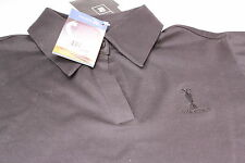 Ladies Adidas Climalite Lycra Mercerized Golf Polo Shirt Size 14 Black The Open