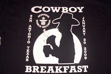 San Antonio Express News Guiness World Records Cowboy Breakfast T-Shirt Mens L