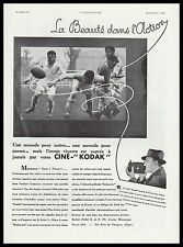 PUBLICITE  CINE KODAK CAMERA PROJECTEUR CINEMA FILM MATCH DE RUGBY  AD  1932