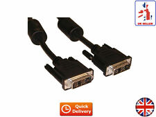 DVI - D TO DVI - D MONITOR CABLE MALE TO MALE PC TFT LCD VIDEO HDTV 1.8M (UK)