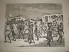 Russia Turkey war Russian prisoners from Elena at Constantinople 1878 old print