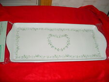 CORELLE COUNTRY COTTAGE TIDBIT SERVING TRAY BRAND NEW IN PACKAGE FREE USA SHIP