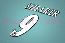 Newcastle Shearer #9 PREMIER LEAGUE 97-06 White Name/Number Set