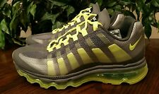 NIKE AIR MAX 95 BB 360 GS YOUTH GREY/VOLT/BLACK 512169-003 SIZE 5.5Y=WOMEN'S 7.5