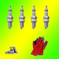 4 x Original BOSCH Zündkerze  WR8DC+ +3 0242229656 + Gratis Handschuh